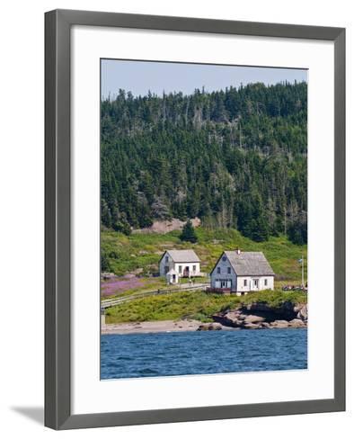 Historic Settlement on Ile Bonaventure Offshore of Perce, Quebec, Canada, North America-Michael DeFreitas-Framed Art Print