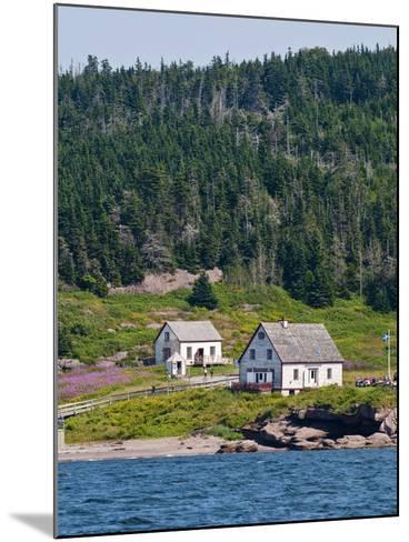 Historic Settlement on Ile Bonaventure Offshore of Perce, Quebec, Canada, North America-Michael DeFreitas-Mounted Photographic Print
