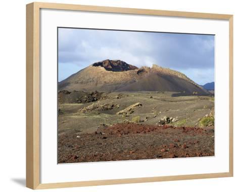 Volcano, Timanfaya National Park, Lanzarote, Canary Islands, Spain, Europe--Framed Art Print