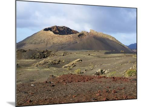 Volcano, Timanfaya National Park, Lanzarote, Canary Islands, Spain, Europe--Mounted Photographic Print