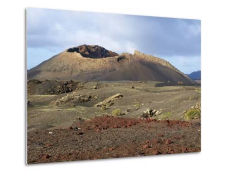Volcano, Timanfaya National Park, Lanzarote, Canary Islands, Spain, Europe--Metal Print