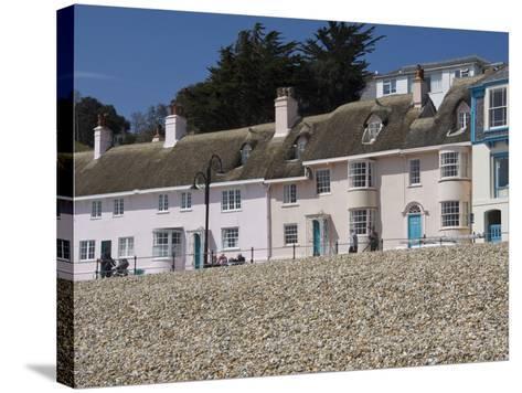 Beachside Cottages Along the Promenade, Lyme Regis, Dorset, England, United Kingdom, Europe-James Emmerson-Stretched Canvas Print