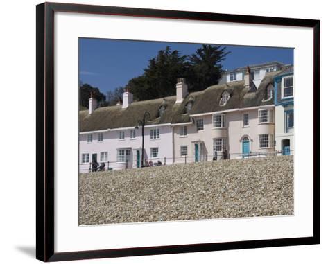 Beachside Cottages Along the Promenade, Lyme Regis, Dorset, England, United Kingdom, Europe-James Emmerson-Framed Art Print
