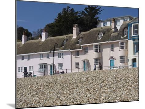 Beachside Cottages Along the Promenade, Lyme Regis, Dorset, England, United Kingdom, Europe-James Emmerson-Mounted Photographic Print