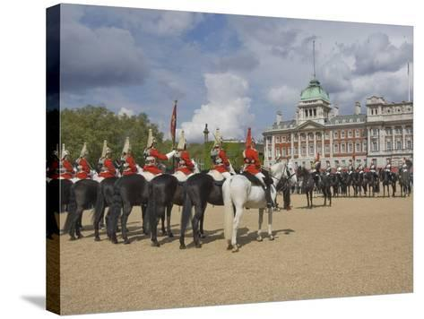 The Changing of the Guard, Horse Guards Parade, London, England, United Kingdom, Europe-James Emmerson-Stretched Canvas Print