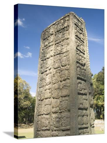 Stela A Dating From 731 AD, Copan Archaeological Park, UNESCO World Heritage Site, Honduras-Richard Maschmeyer-Stretched Canvas Print
