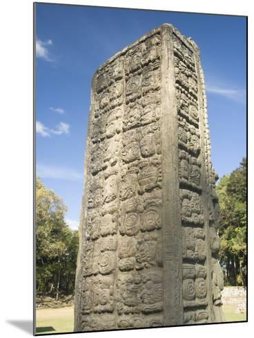 Stela A Dating From 731 AD, Copan Archaeological Park, UNESCO World Heritage Site, Honduras-Richard Maschmeyer-Mounted Photographic Print