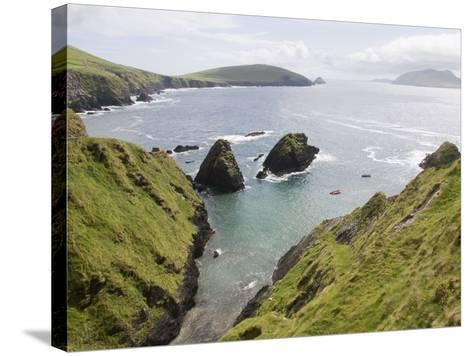 View From Slea Head Drive, Dingle Peninsula, County Kerry, Munster, Republic of Ireland, Europe--Stretched Canvas Print
