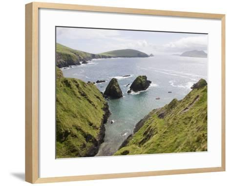View From Slea Head Drive, Dingle Peninsula, County Kerry, Munster, Republic of Ireland, Europe--Framed Art Print