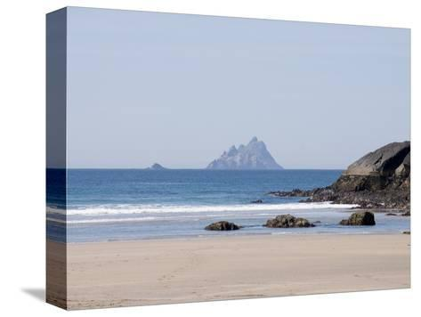 Ring of Kerry With the Skellig Rock in Distance, County Kerry, Munster, Republic of Ireland, Europe--Stretched Canvas Print