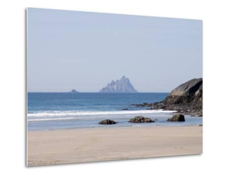 Ring of Kerry With the Skellig Rock in Distance, County Kerry, Munster, Republic of Ireland, Europe--Metal Print