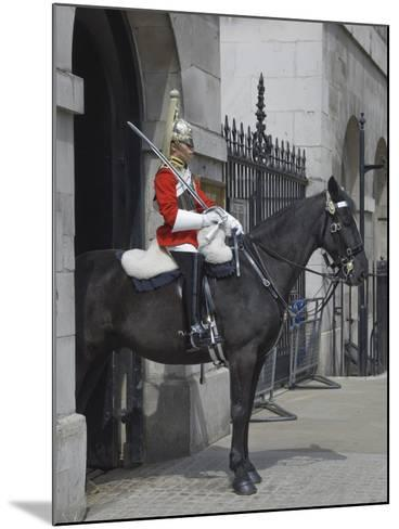 A Horse Guard in Whitehall, London, England, United Kingdom, Europe-James Emmerson-Mounted Photographic Print