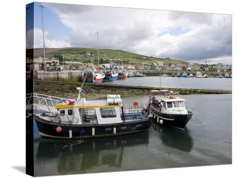 Dingle Harbour With Fishing Boats, Dingle, County Kerry, Munster, Republic of Ireland, Europe--Stretched Canvas Print