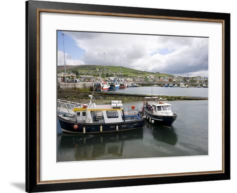 Dingle Harbour With Fishing Boats, Dingle, County Kerry, Munster, Republic of Ireland, Europe--Framed Art Print