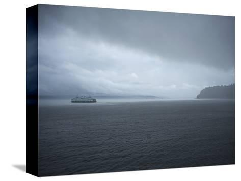 A Ferry Boat Moves Through Stormy Weather From Vashon Island to West Seattle. Washington State, USA-Aaron McCoy-Stretched Canvas Print