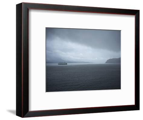 A Ferry Boat Moves Through Stormy Weather From Vashon Island to West Seattle. Washington State, USA-Aaron McCoy-Framed Art Print