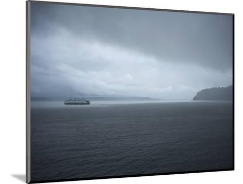 A Ferry Boat Moves Through Stormy Weather From Vashon Island to West Seattle. Washington State, USA-Aaron McCoy-Mounted Photographic Print