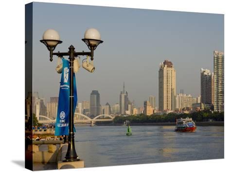 Riverscape, Guangzhou, Guangdong, China, Asia-Charles Bowman-Stretched Canvas Print