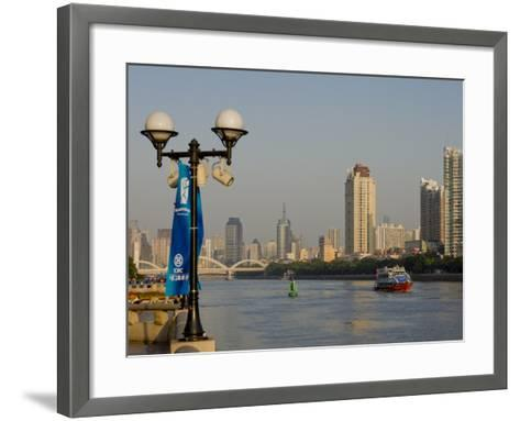 Riverscape, Guangzhou, Guangdong, China, Asia-Charles Bowman-Framed Art Print