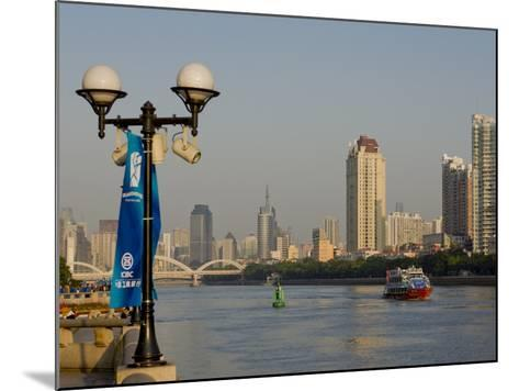 Riverscape, Guangzhou, Guangdong, China, Asia-Charles Bowman-Mounted Photographic Print