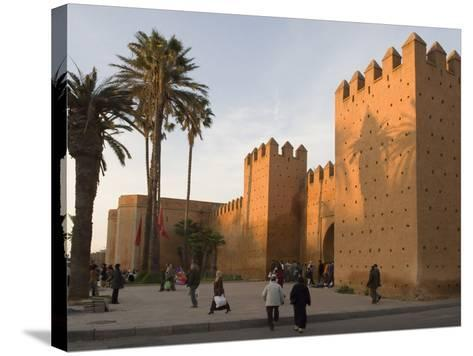 City Walls Surrounding the Medina, Rabat, Morocco, North Africa, Africa-Graham Lawrence-Stretched Canvas Print
