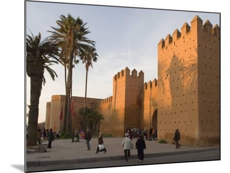 City Walls Surrounding the Medina, Rabat, Morocco, North Africa, Africa-Graham Lawrence-Mounted Photographic Print