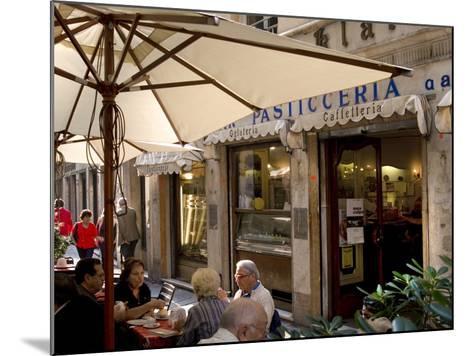 Cafe, Genoa Port, Liguria, Italy, Europe-Charles Bowman-Mounted Photographic Print