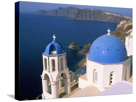 Oia (Ia), Island of Santorini (Thira), Cyclades Islands, Aegean, Greek Islands, Greece, Europe-Sergio Pitamitz-Stretched Canvas Print