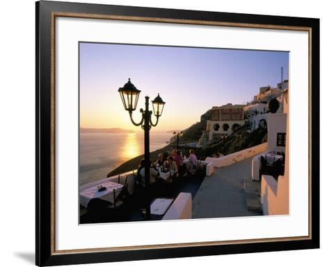 Fira, Island of Santorini (Thira), Cyclades Islands, Aegean, Greek Islands, Greece, Europe-Sergio Pitamitz-Framed Art Print