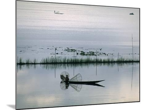 Fisherman, Inle Lake, Shan State, Myanmar (Burma), Asia-Sergio Pitamitz-Mounted Photographic Print