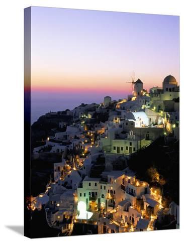 Oia (Ia), Island of Santorini (Thira), Cyclades Islands,Aegean, Greek Islands, Greece, Europe-Sergio Pitamitz-Stretched Canvas Print