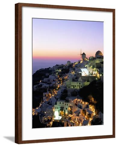 Oia (Ia), Island of Santorini (Thira), Cyclades Islands,Aegean, Greek Islands, Greece, Europe-Sergio Pitamitz-Framed Art Print