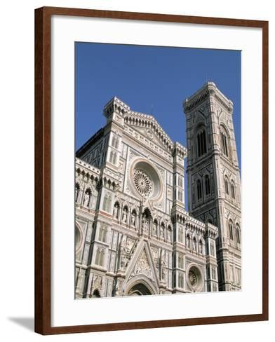 Duomo and Campanile (Cathedral and Bell Tower), Florence, UNESCO World Heritage Site, Italy-Sergio Pitamitz-Framed Art Print