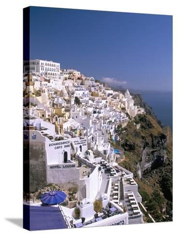 Fira, Island of Santorini (Thira), Cyclades Islands, Aegean, Greek Islands, Greece, Europe-Sergio Pitamitz-Stretched Canvas Print