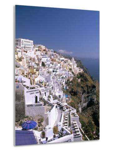 Fira, Island of Santorini (Thira), Cyclades Islands, Aegean, Greek Islands, Greece, Europe-Sergio Pitamitz-Metal Print