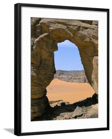 Afzgar Arch, Akakus, Sahara Desert, Fezzan, Libya, North Africa, Africa-Sergio Pitamitz-Framed Art Print