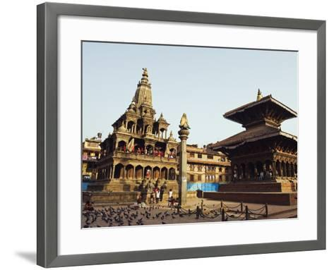 Krishna Mandir, a 7th Century Hindu Temple, UNESCO World Heritage Dite, Durbar Square, Patan, Nepal-Christian Kober-Framed Art Print