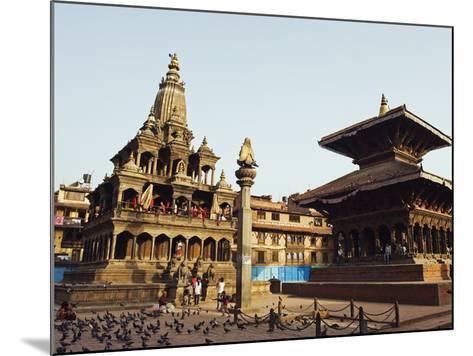 Krishna Mandir, a 7th Century Hindu Temple, UNESCO World Heritage Dite, Durbar Square, Patan, Nepal-Christian Kober-Mounted Photographic Print