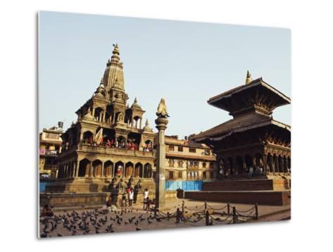Krishna Mandir, a 7th Century Hindu Temple, UNESCO World Heritage Dite, Durbar Square, Patan, Nepal-Christian Kober-Metal Print