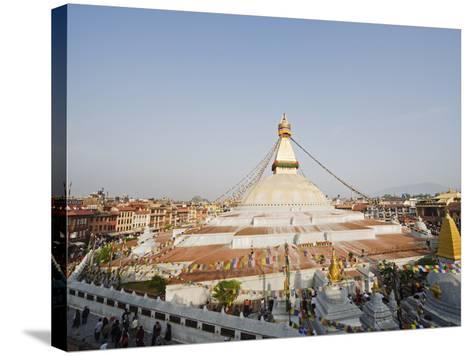 Boudha Stupa (Chorten Chempo), Boudhanath, Kathmandu, Nepal, Asia-Christian Kober-Stretched Canvas Print