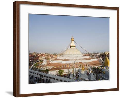 Boudha Stupa (Chorten Chempo), Boudhanath, Kathmandu, Nepal, Asia-Christian Kober-Framed Art Print