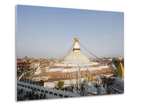 Boudha Stupa (Chorten Chempo), Boudhanath, Kathmandu, Nepal, Asia-Christian Kober-Metal Print