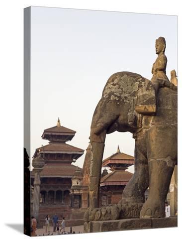 Bishwanath Mandir, Durbar Square, UNESCO World Heritage Site, Patan, Kathmandu Valley, Nepal, Asia-Christian Kober-Stretched Canvas Print