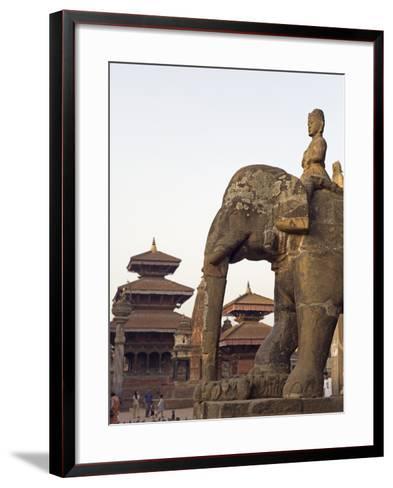 Bishwanath Mandir, Durbar Square, UNESCO World Heritage Site, Patan, Kathmandu Valley, Nepal, Asia-Christian Kober-Framed Art Print