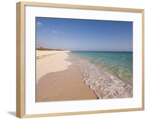 Beach at Cayo Santa Maria, Sol Cayo Santa Maria Resort, Cayo Santa Maria, Cuba-Michael DeFreitas-Framed Art Print