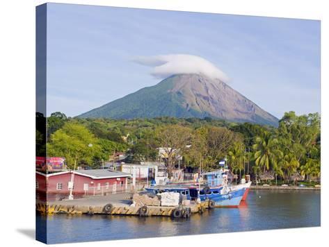 Harbour Below Volcan Concepcion, 1610M, Ometepe Island, Lake Nicaragua, Nicaragua, Central America-Christian Kober-Stretched Canvas Print