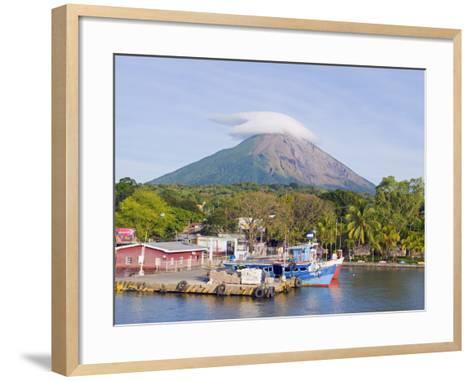 Harbour Below Volcan Concepcion, 1610M, Ometepe Island, Lake Nicaragua, Nicaragua, Central America-Christian Kober-Framed Art Print
