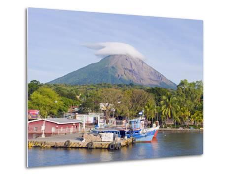 Harbour Below Volcan Concepcion, 1610M, Ometepe Island, Lake Nicaragua, Nicaragua, Central America-Christian Kober-Metal Print