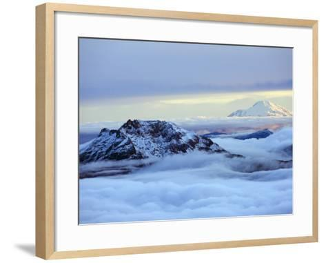 View From Volcan Cotopaxi, 5897M, the Highest Active Volcano in the World, Ecuador, South America-Christian Kober-Framed Art Print