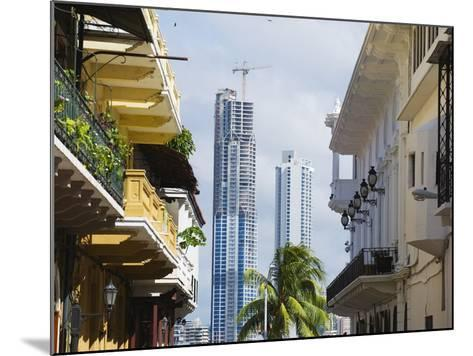 Modern Skyscrapers and Historical Old Town, UNESCO World Heritage Site, Panama City, Panama-Christian Kober-Mounted Photographic Print